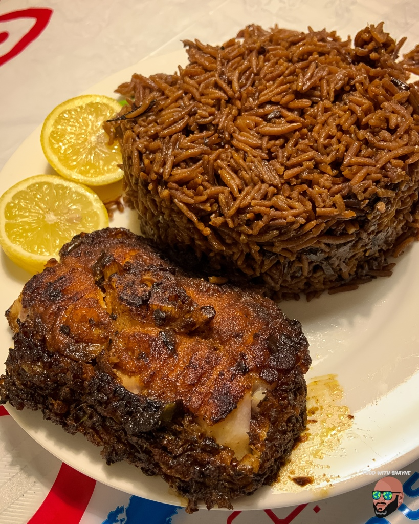 Mahmous Rice and Fried Hamour